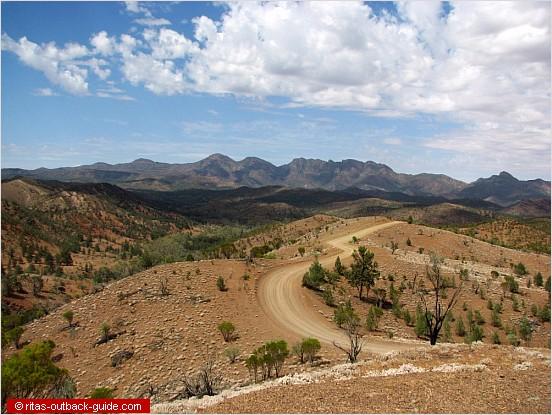 view over bunyeroo valley
