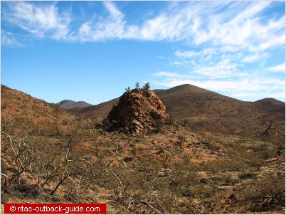 The pinnacles in the Gammon Ranges