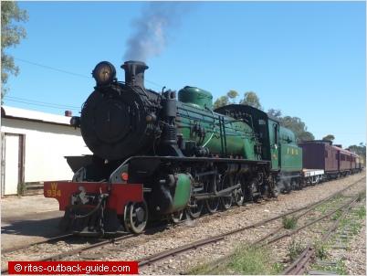 Old steam locomotive at Quorn