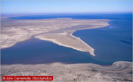 salt lake with water