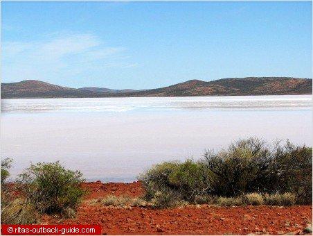 salt lakes make up beautiful outback scenery