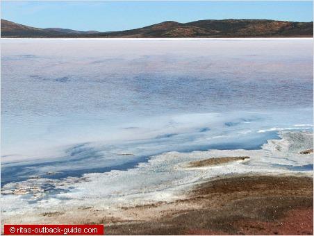 salt crust at the shore