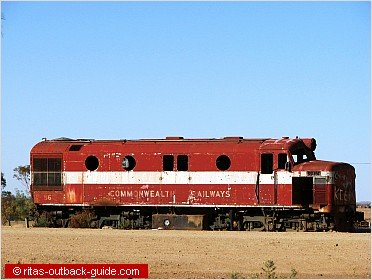 old locomotive in the outback