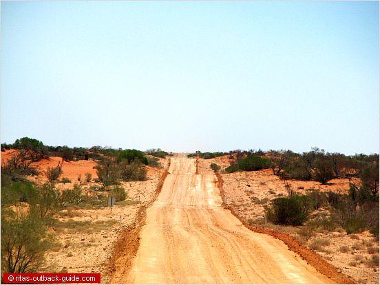 road crossing sand dunes