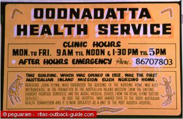 health service sign