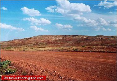 The Oodnadatta Track passes the Stuart Range at Barton Gap