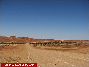 a lonely track in the australian outback
