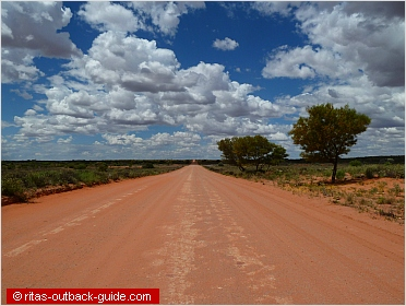 wide outback road