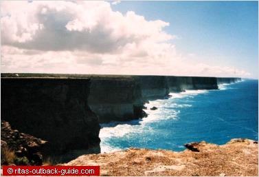 steep cliffs on the nullaror coast