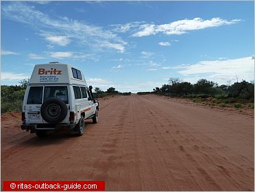 Campervan on a rough road in Outback New South Wales
