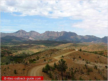 mountain valley in the flinders ranges