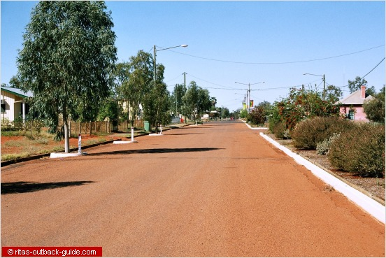 tree-lined outback town