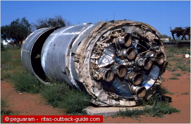 debris of a rocket