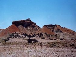 Discover the colourful hills known as Painted desert, or Arckaringa Hills