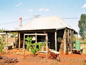 An old hut from the museum in Windorah