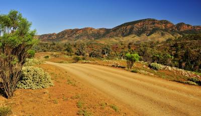 Road to Brachina Gorge Flinders Ranges