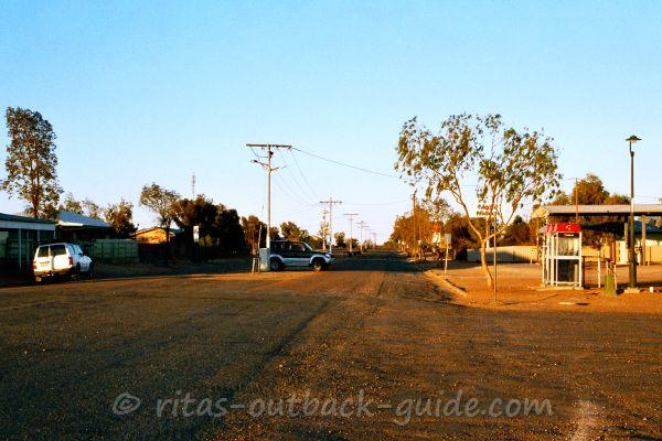 A lonely street in a bush town