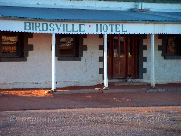 The iconic hotel in Birdsville