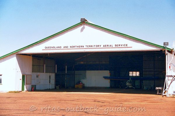 Original hangar of the Queensland And Northern Territory Aerial Service in Cloncurry