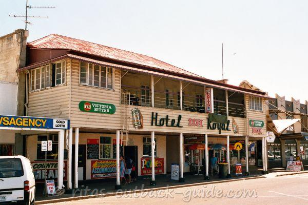 Old country hotel in Longreach Australia