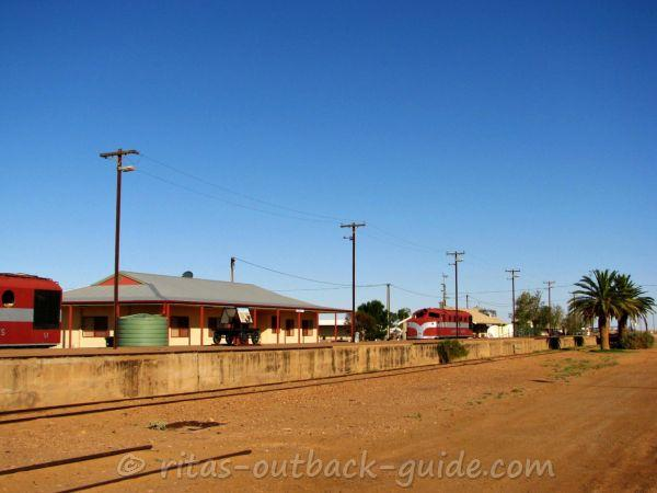 The railway area in Marree