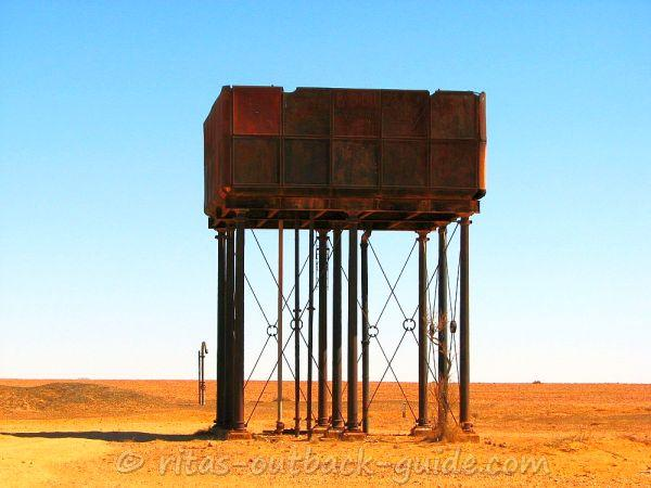 A rusty water storage