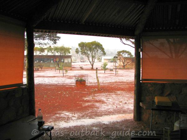 When it rains in the Outback you better seek shelter
