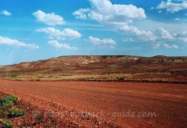 Colourful hills and blue sky - the colours of the Outback