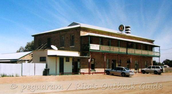 This is an older photo of the historic hotel in Marree