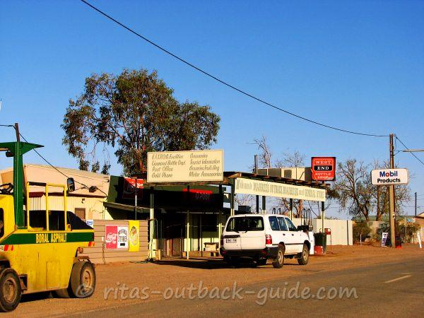 Outback roadhouse with the typical services
