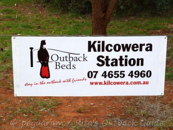 A sign introducing Kilcowera as a member of Outback beds