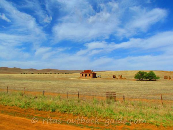 Old cottage in a meadow near Burra, South Australia