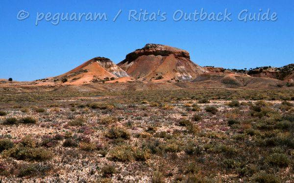 Colourful, rocky hills