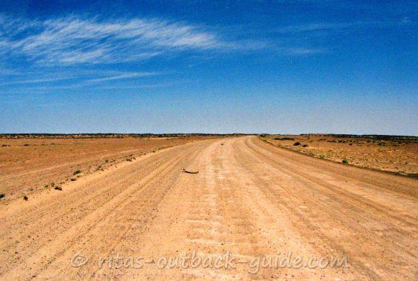 Corrugated section on the Oodnadatta Track