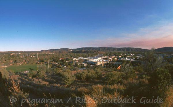 View of Alice Springs to towards the MacDonnell Ranges