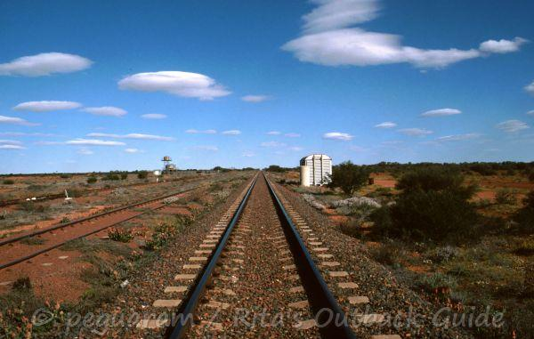 A railway line that disappears into the far horizon