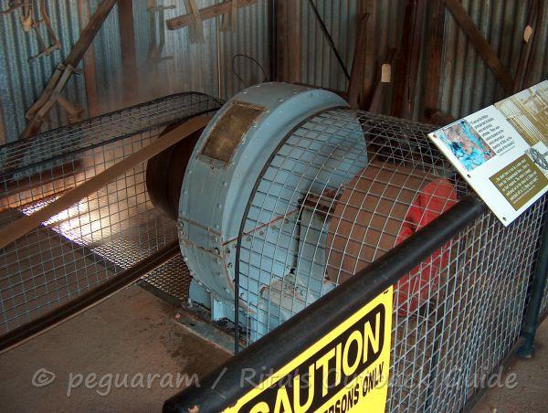 Pelton Wheel at the Hydro Power Plant in Thargomindah