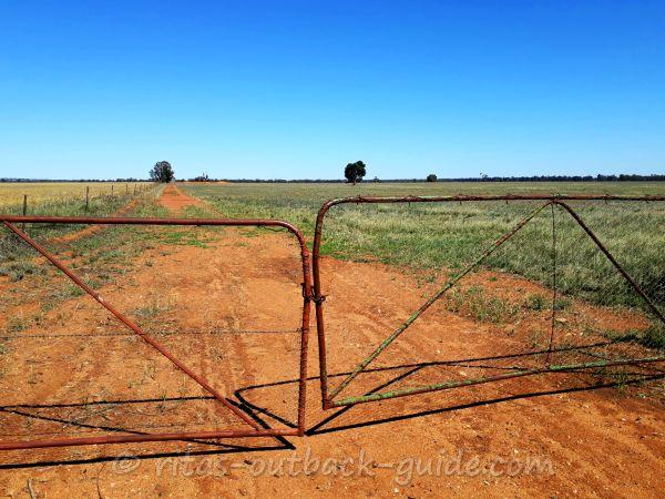 A rusty gate in Outback NSW