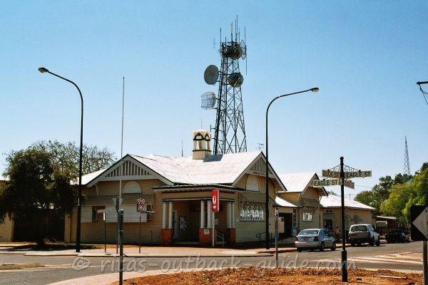 Post office and the tower that connects the Outback with the world