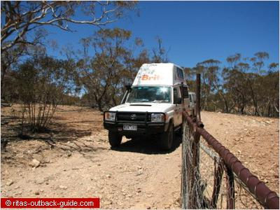 Toyota bushcamper north of Arkaroola