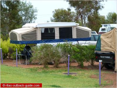 Camper trailer in Thargomindah
