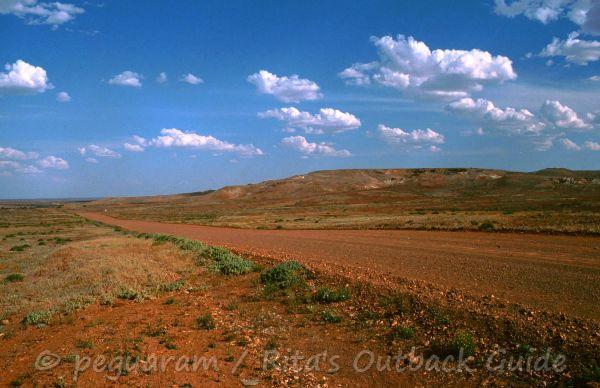 Stuart range in South Australia