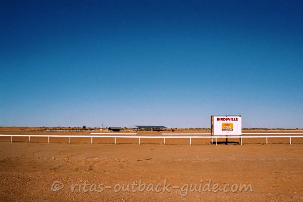 A racecourse in the middle of the Outback