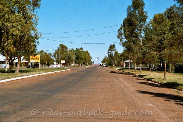 Boulia's wide main street