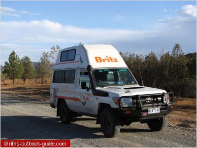 Bushcamper in the Outback